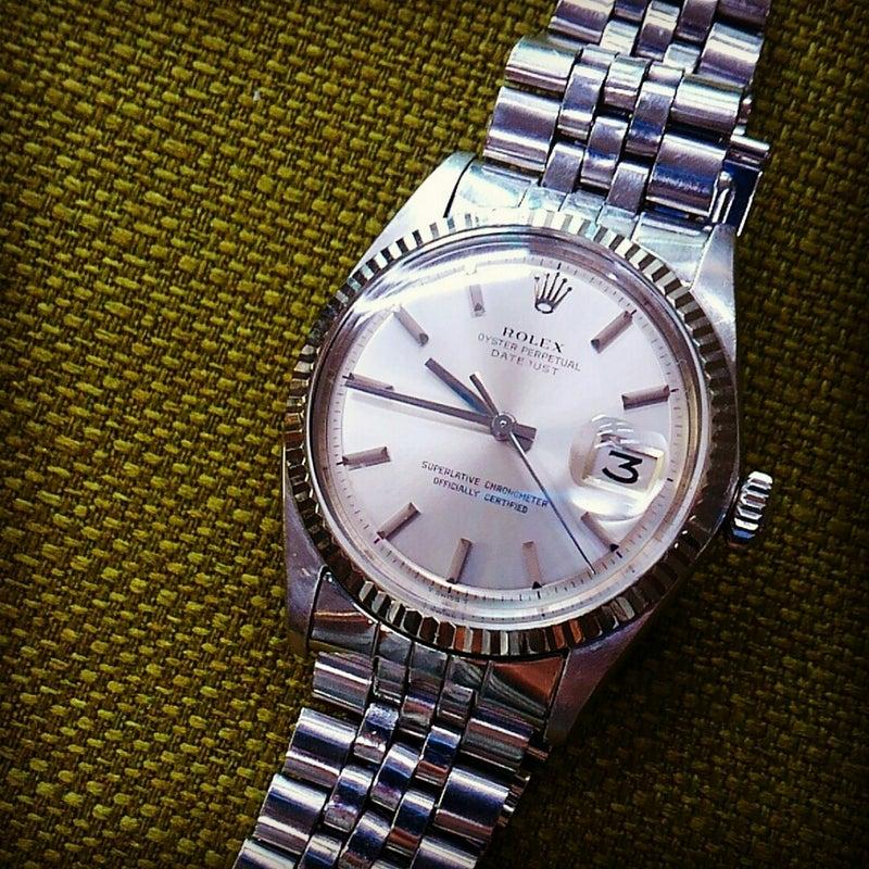 timeless design 9d029 e63d7 約50年近く前の極て美品のロレックス・デイトジャスト修理 ...