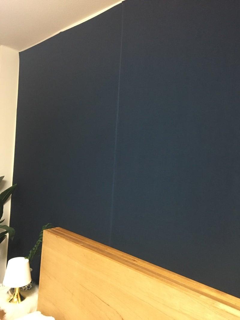 補足 賃貸の壁を青くしてみた 100均de 海外風インテリア パーティ Diy