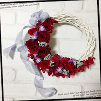 ドラマティックリース☆紅い薔薇を使っての記事に添付されている画像