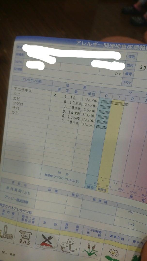アレルギー検査の結果 | ☆名古屋ガールくま子発・食べ歩きHAPPY ...