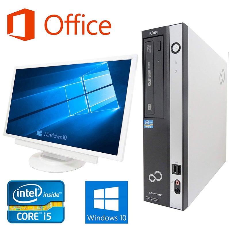 Microsoft Office 2016搭載Windows10搭載、超大画面24インチ液晶セット富士通D582/E/第三世代Core i5-3470 3.2GHz/超大容量メモリー8GB/HDD:2TB/DVDスーパーマルチ/無線LAN搭載/中古デスクトップパソコン/ハードディスク:2TB
