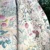 バラクラ イングリッシュ ガーデン「バラ色の暮し」淡いピンクのお花柄★織りの丈夫なカーテンの画像