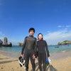 青の洞窟は中止になりましたが、サンゴビーチでシュノーケル♪お天気もいいので海はとってもキレイ!!の画像