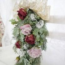 エレガント♡クリスマススワッグ♡アーティフィシャルフラワーの記事に添付されている画像