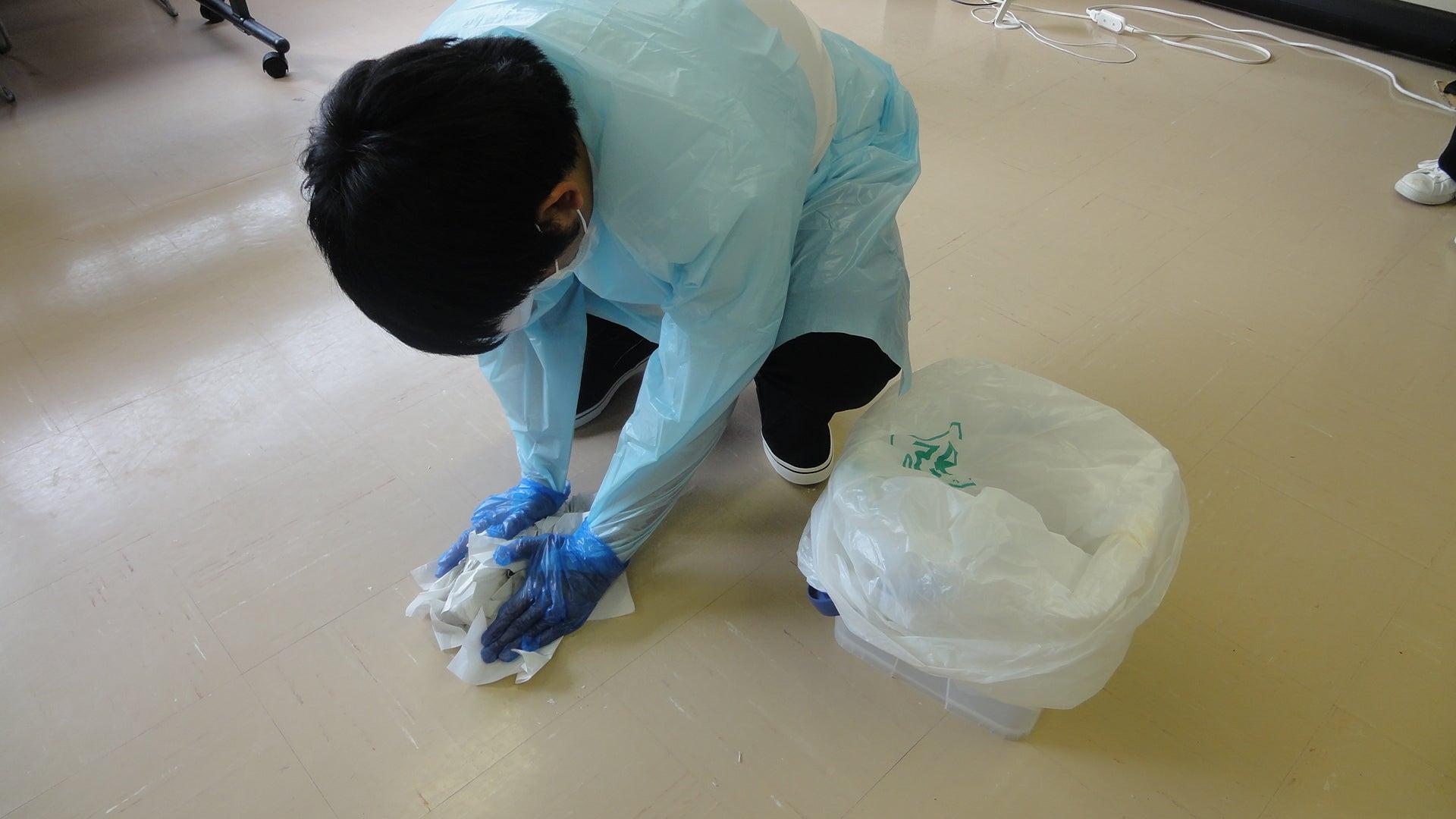 熱川温泉病院のブログ院内感染性嘔吐物 実技研修