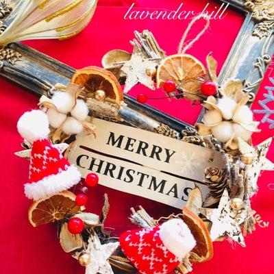 親子で楽しむナチュラルなクリスマスリース♡の記事に添付されている画像