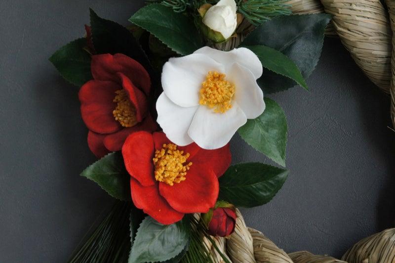 紅白 ツバキ 造花 椿 正月