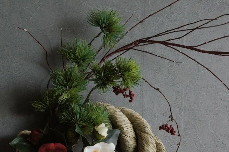 造花 しめ縄 アートフラワー 人工 正月飾り