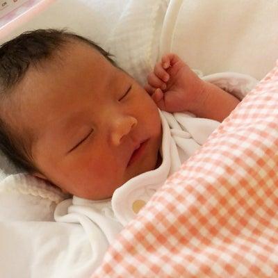 出産のご報告の記事に添付されている画像