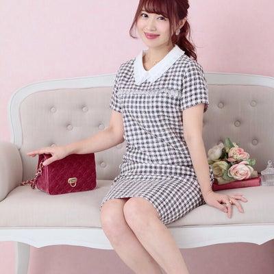 Cherry Ann の襟付きツイードワンピースの記事に添付されている画像