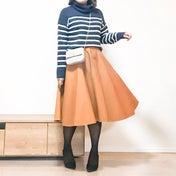 【GU×ユニクロ】モチモチニットとキュッとスカートでプチプラコーデ♪