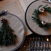 【ダイソー】流行の刺繍枠に、クリスマスのアレンジ♪の記事に添付されている画像
