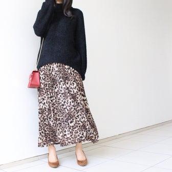 【プチプラなのに可愛い!】大人っぽいレオパード柄スカートでコーデ
