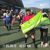岡山マラソンと広島40キロ走の記事に添付されている画像