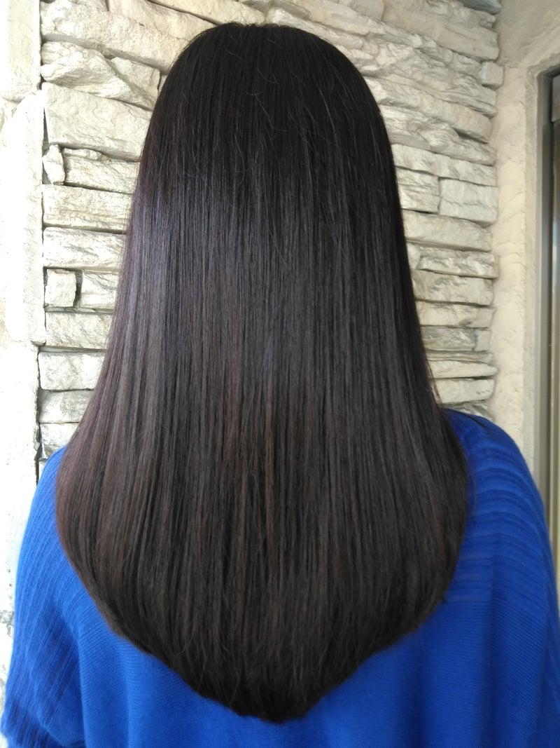 黒髪でヘナカラー