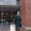 和服で空の旅は大変か??宮崎の一日研修会を着物で初挑戦!ダークブラウンビジネスコーデ
