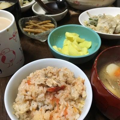 サバ缶の炊き込みご飯で朝ごはん♪の記事に添付されている画像