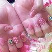 ピンクネイル♡カメオ