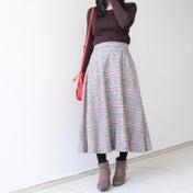 【大人可愛いチェックフレアスカート♡】着痩せ見えする優秀アイテム!