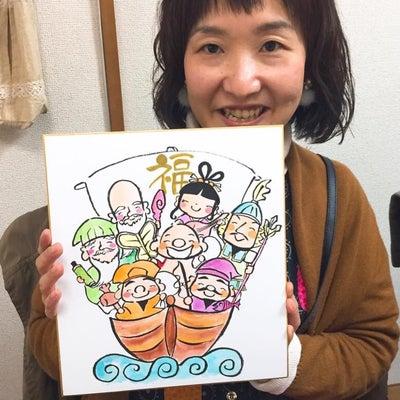 【募集】色紙に描く七福神イラスト講座の記事に添付されている画像
