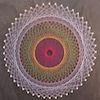糸かけ曼荼羅でカラーセラピーの画像