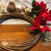 手作りクリスマスリースの画像