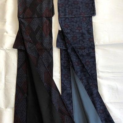 結城紬の着比べの記事に添付されている画像