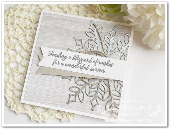雪の結晶 手作りカード