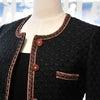 素敵なパイピングのノーカラーロングジャケット♪|オーダーメイドスーツ・ドレスの画像