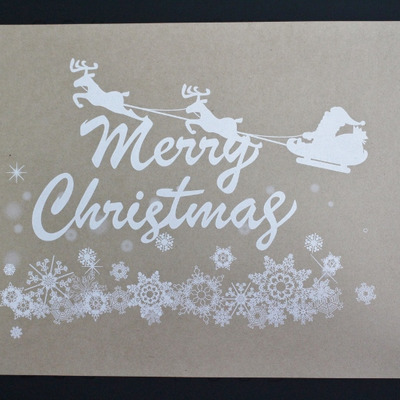 オンデマンド白印刷加工 クリスマスカードを作成させていただきましたの記事に添付されている画像