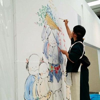日本画 ライブペインティングの記事に添付されている画像