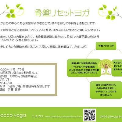 【募集】お子様連れOK!骨盤リセットヨガの記事に添付されている画像