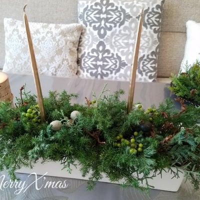 クリスマスセンターピース♡フレッシュフラワーでクリスマスを楽しみますの記事に添付されている画像