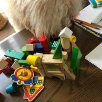 積み木と、ハックルベリーの記事に添付されている画像
