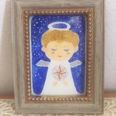 天使と守護天使の絵★販売中の記事に添付されている画像
