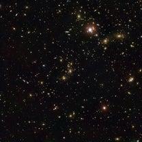 「パンドラ」と名付けられた銀河団の複雑な構造の記事に添付されている画像