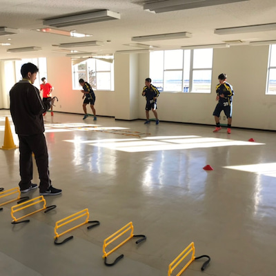 酒田南高校サッカー部でトレーニング指導の記事に添付されている画像