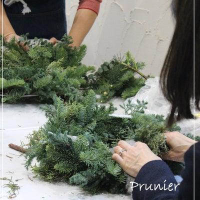 クリスマスリースの作成の記事に添付されている画像