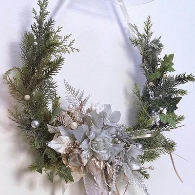 常緑樹ガーランドのお洒落な飾り方バリエーション〜♪の記事に添付されている画像