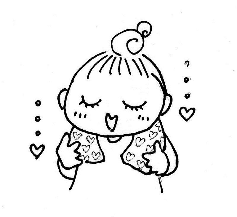 癒し系お団子頭の少女のイラストがお人形になる 福岡全国温