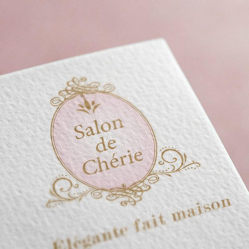 可愛いエレガントな美容サロンのロゴマークデザイン