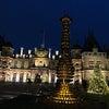 Waddesdon Manorでのクリスマスライトの画像