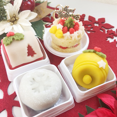 練り切りアート 「Merry YUZU Christmas!」の記事に添付されている画像
