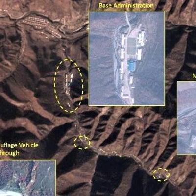 北朝鮮ミサイル基地拡大の記事に添付されている画像