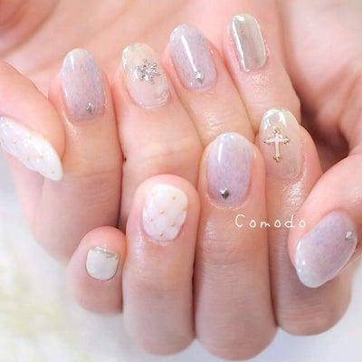 冬のホワイトキルティングネイル♡の記事に添付されている画像