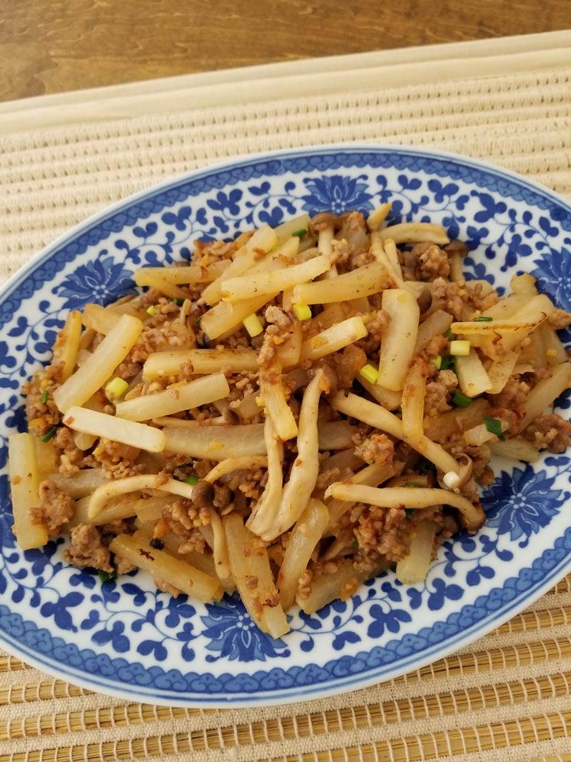 大根と干しえびのそぼろ炒め (2)