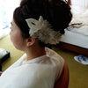 結婚式出張ヘアメイクBlog/ アンダーズ東京の素敵な新郎新婦から①挙式編ですの画像