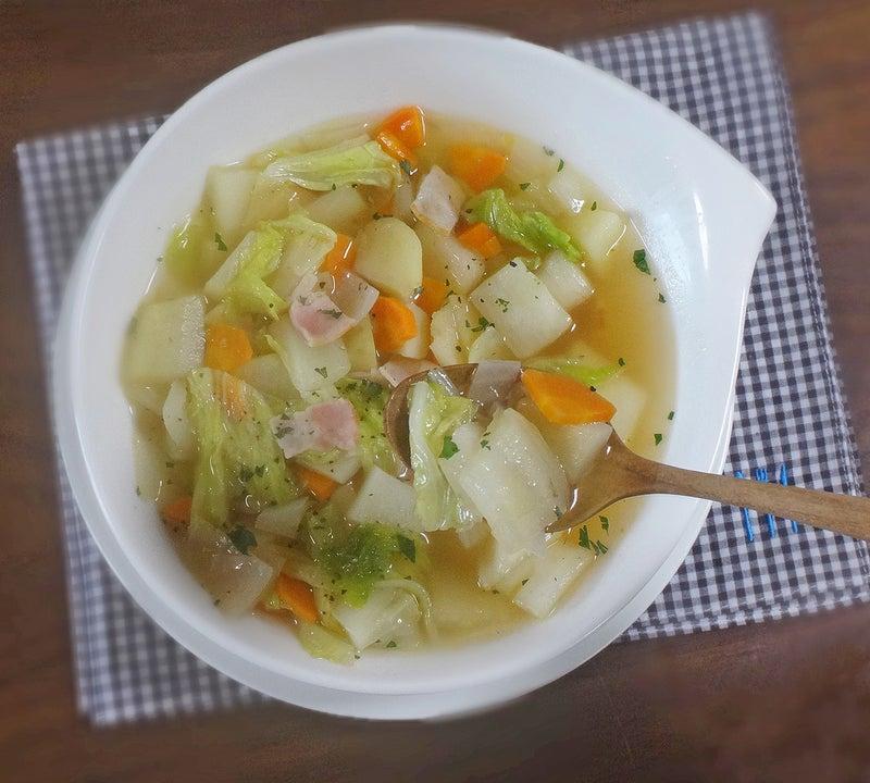 白菜 ベーコン スープ