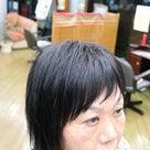 縮毛矯正のメンテナンスカットでラフな感じの記事より