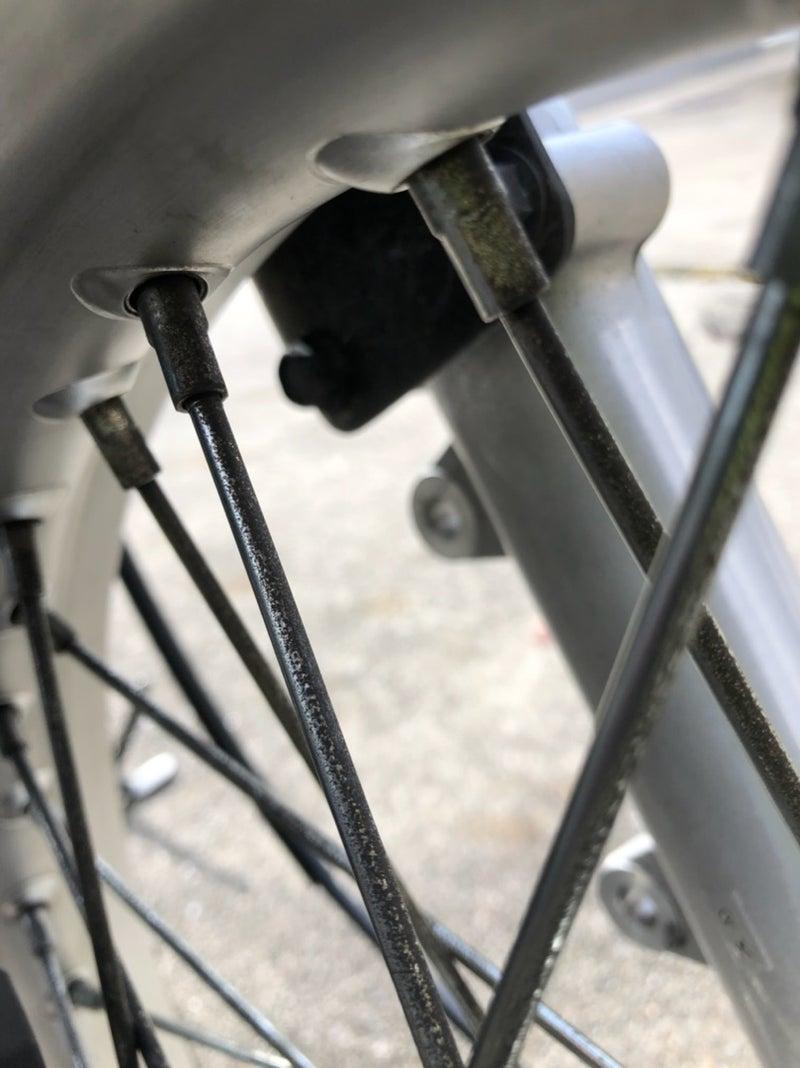 スポーク 磨き バイク バイクの洗車ついでにスポークのサビ取りに再チャレンジ